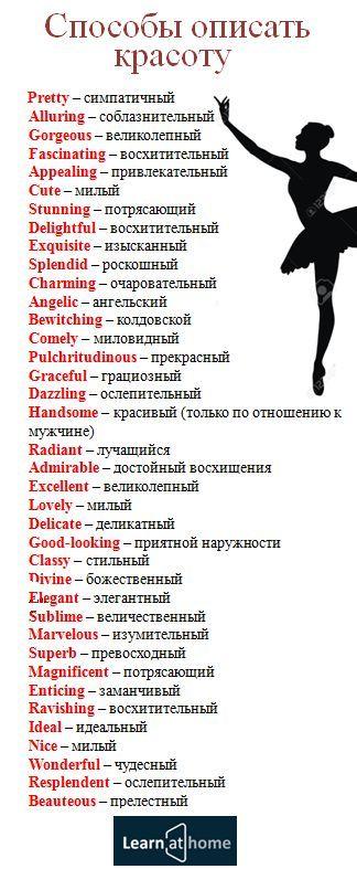 Как описать красоту на английском #english #vocabulary #beauty #английский #красота / Начать изучение: http://popularsale.ru/faststart3/?ref=80596&lnk=1442032