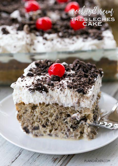 Cookies & Cream Tres Leches CakeFollow for recipesGet your  Mein Blog: Alles rund um Genuss & Geschmack  Kochen Backen Braten Vorspeisen Mains & Desserts!