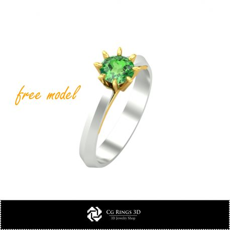 3D Engagement Ring - Free 3D Model