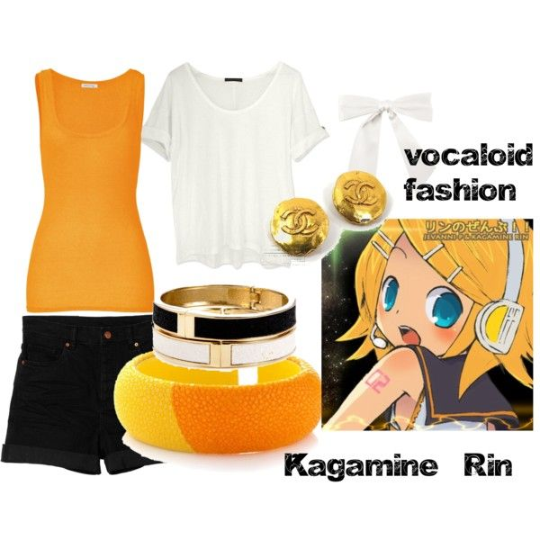 """kagamine rin - Vocaloid Style"" by issacaballero on Polyvore"
