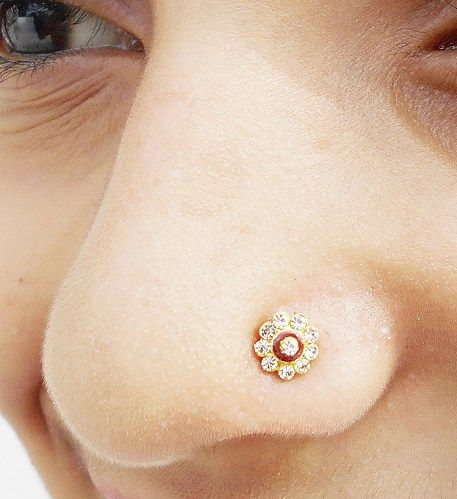 Indian Nose Ring,Studs Jewelry,Medusa Piercing,Nose Screw,Nose Trill