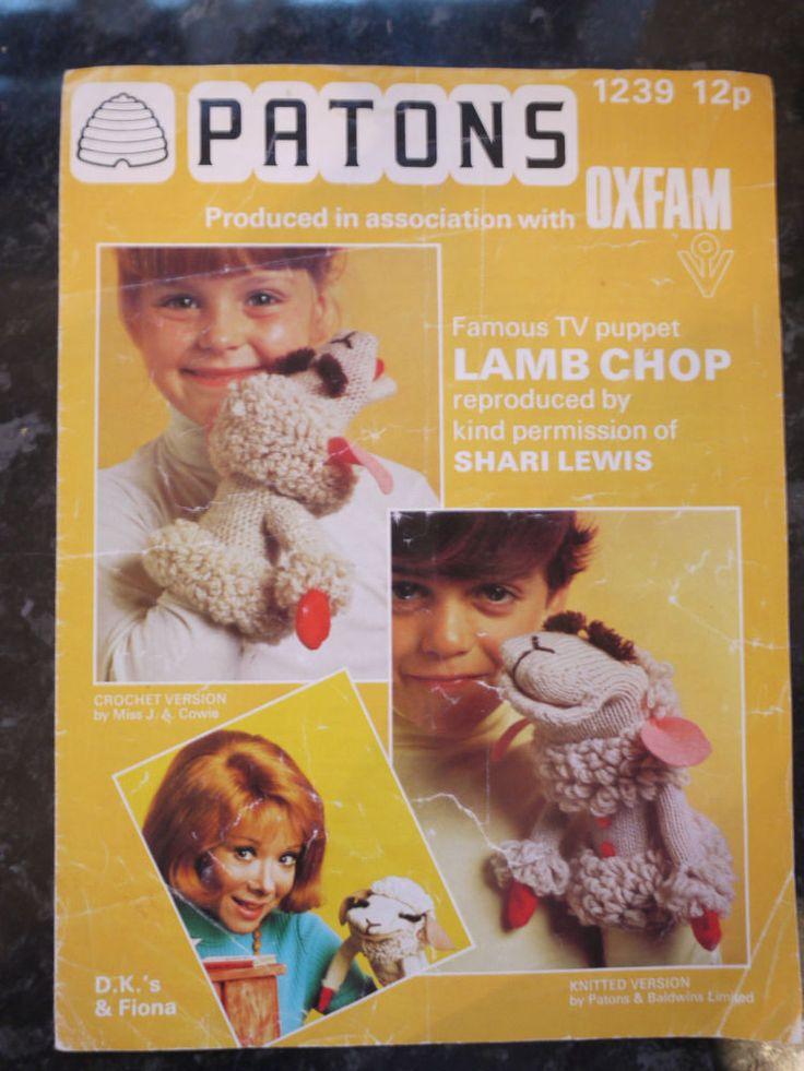 Patons TV Puppet Lamb Chop Shari Lewis Toy Knitting ...