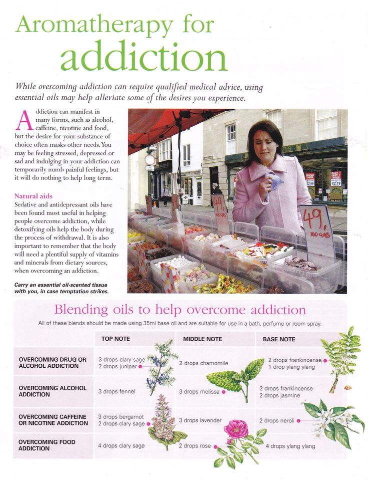 Aromatherapy for addiction