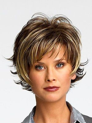 Details about New Wig with Baby Hair Human Hair Full End Short Bob Wigs For Black Women