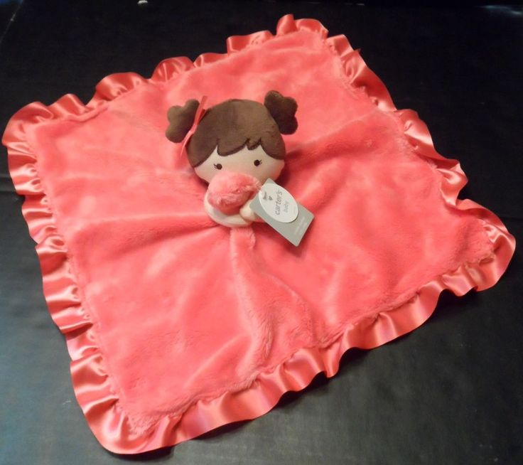 $34.98/ Newborn Infant Baby Girl Plush Pink Lovey Security Cuddle Blanket with Rattle by Carter's~ This is NEW WITH TAGS~~~see over 20 categories of merchandise in my store. I ship globally. www.shellyssweetfinds.com