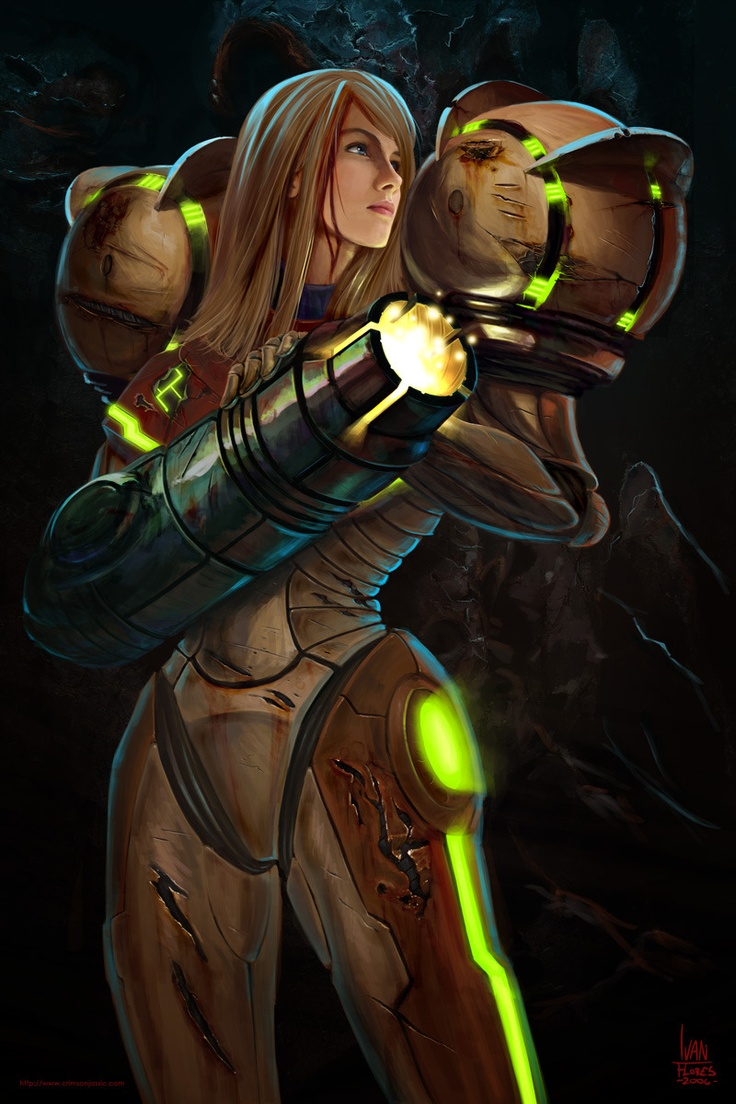Samus - Metroid- Badass bounty hunter. She had complete confidence in her abilities, never second guessed herself and all the while having compassion and never arrogant.