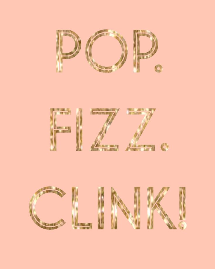 Pop. Fizz. Clink. Print in Pink (10.00 CAD) by KathrynLaversDesign