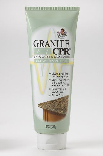 Granite CPR Cleaner & Polish 12 oz Tube by Granite CPR. $7.50. Granite CPR cleans and polishes in one easy step. There is no need for two products, which saves time and money. With Granite CPR, not only can you see the difference, you can feel it. Granite CPR leaves surfaces with a gorgeous shine, silky smooth finish, and absolutely no residue. Safe for use on granite, marble, smooth polished stone countertops, table tops, and vanities. Granite CPR can also be used on imitatio...