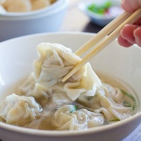 Healthy Wonton Soup - so quick, easy, and tasty!