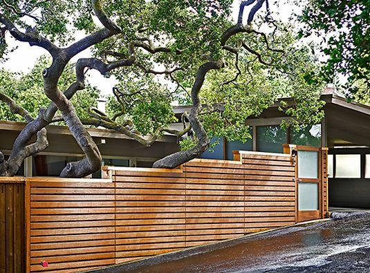 29 best modern horizontal fence design images on pinterest horizontal fence design on sloped terrain hranice zahrady vzadu workwithnaturefo