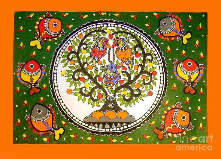 madhubani paintings tree of life - Google Search