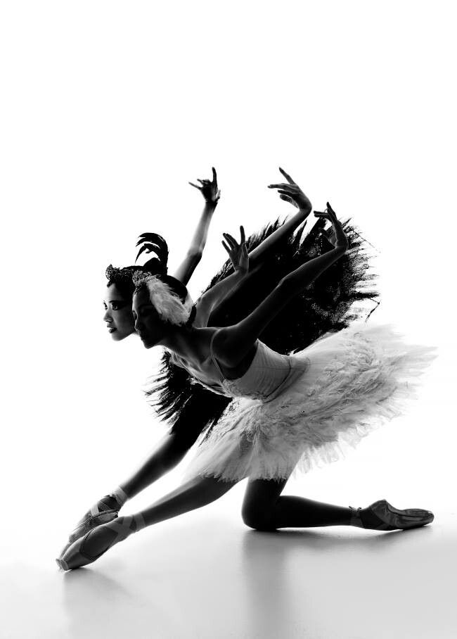 [Stunning depiction of black swan] Ballet Fitness - Be inspired by others, appreciate others, learn from others, but know that competing against them is a waste of time. You are in competition with one person and one person only – yourself. You are competing to be the best you can be.