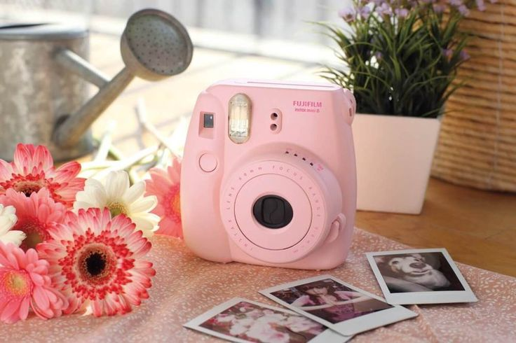 Instant Polaroid Camera Mini 8 Picture Film Flashing LED Fujifilm New Pink #Fujifilm