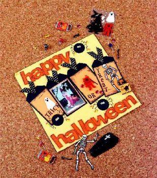 Happy Halloween Scrapbook Page
