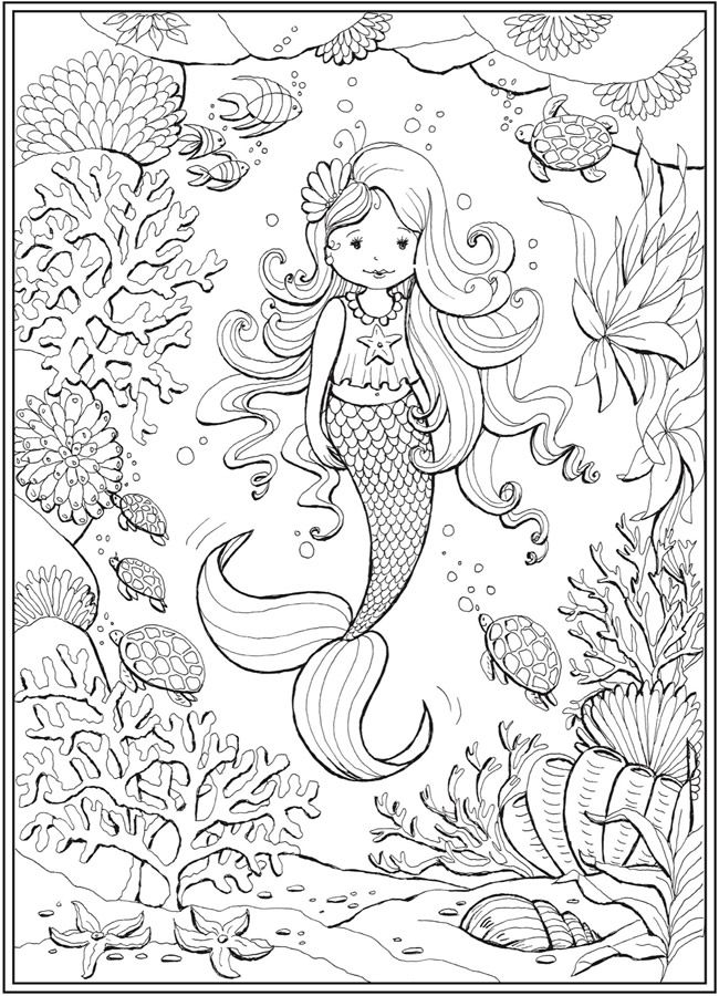 Welcome To Dover Publications Mermaid Coloring Pages Cute Coloring Pages Coloring Pages