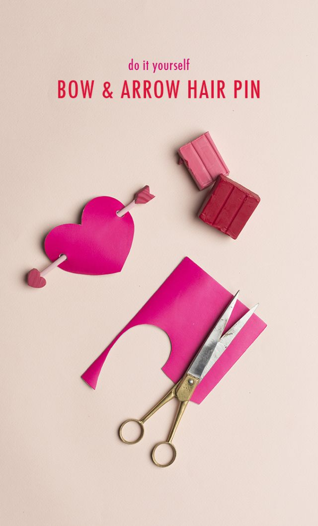 DIY Arrow & heart hair pin via @HouseLarsBuilt | Valentine's Day Hair Pin
