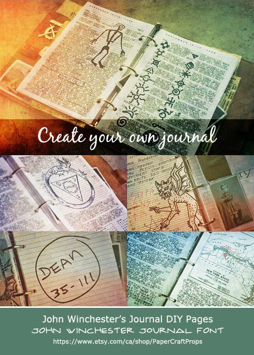 Creating John Winchester's Journal #SPN #Supernatural #SupernaturalCosplay #JohnWinchestersjournal