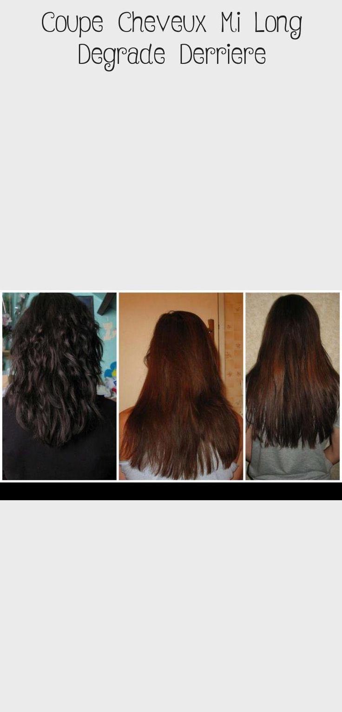 Coupe Cheveux Mi Long Degrade Derriere en 2020   Cheveux mi long, Coupe cheveux mi long, Coupes ...