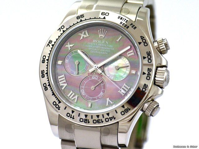 Rolex Daytona Cosmograph, Ref. 116509, 18k White Gold with Mother of Pearl Dial, Bj. 2006, Like New $24,362 #hologram #watches #trend