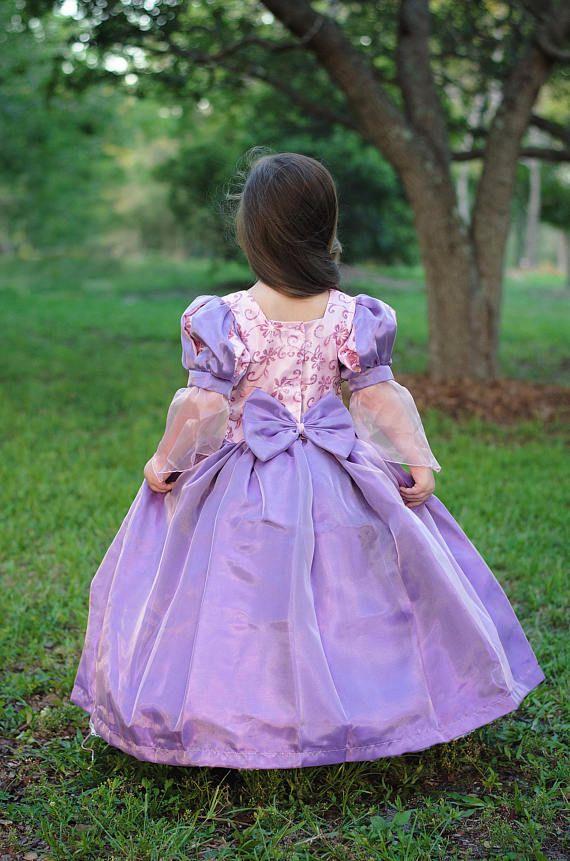 Rapunzel Disney princesa vestido inspirado traje  enredado