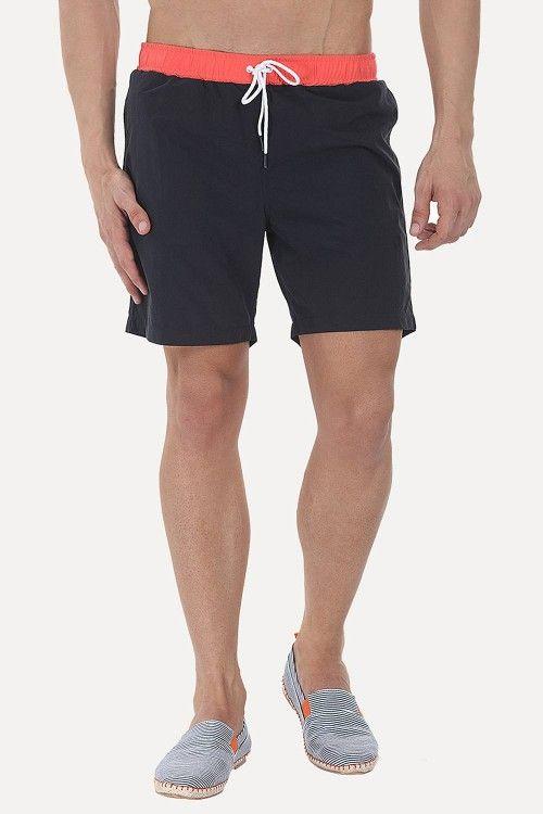 c02eb8a1da Solid Nylon Swim Shorts With Contrast Elastic Waistband   Closet - B4   Swim  shorts, Shorts, Swim trunks