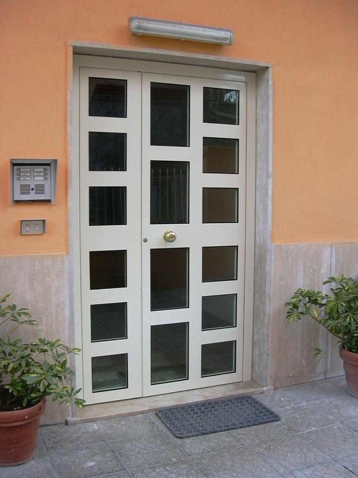 Portoncino i alluminio con vetri visarm e serratura - Porte blindate da esterno prezzi ...