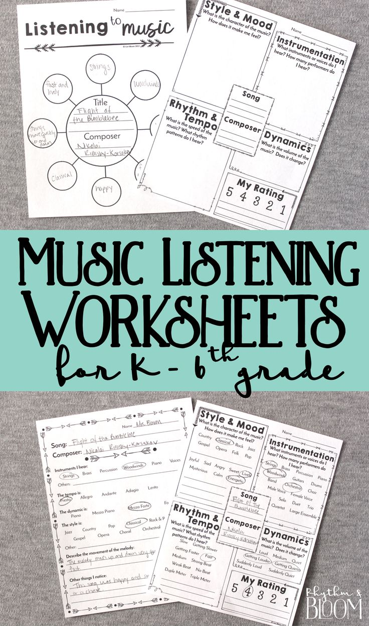 Generic musing listening for grades Kindergarten through 6th grade. These are awesome for music class and great for a sub!
