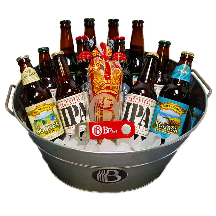 Where else can you find a beer bucket gift basket this cool?! We sell the coolest beer gifts you will find, hands down!!