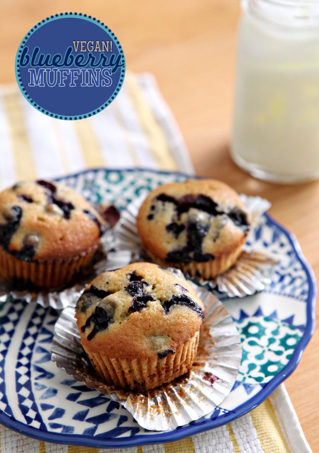 Vegan Blueberry Muffins-The Speckled Palate