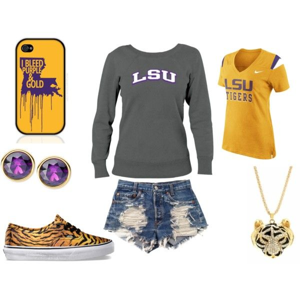 """""""LSU Game Day"""" by studiocicada on Polyvore"""