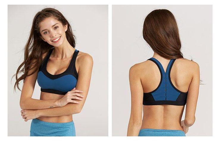 Goddess Fitness Sports Bra Women's Sexy Breathable Yoga Bra No Steel Ring More Comfortable