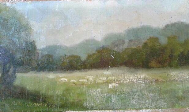 "Sals field.slane.oil on canvas.8""6""."