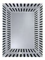 Angled Side Frameless Black Bevelled Wall Mirror