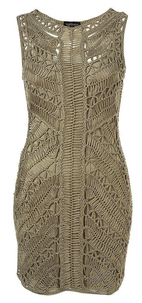 Hairpin Crochet Dress by Top shop--let's hear it for non-horizontal stripes!