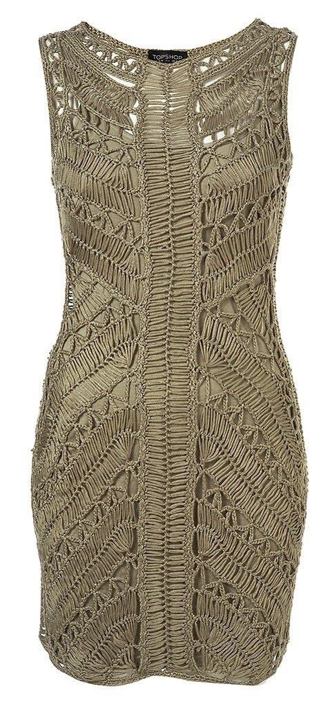 Hairpin Crochet Dress by Top shop