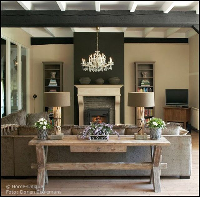 Belgian Style Interiors: Living Rooms