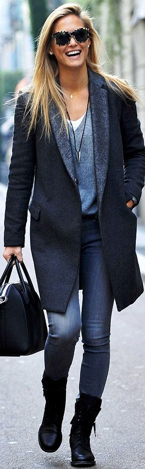 Great Coat - Street Style                                                       …Bar Refaeli Israel-Model https://youtu.be/zHg9xUqyGV8