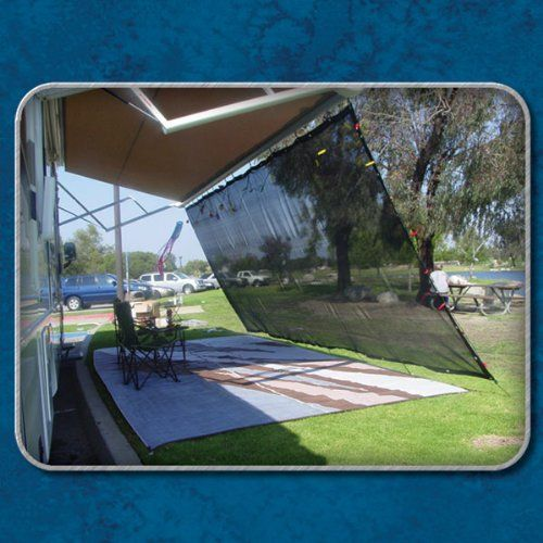 Black Rv Awning Shade Net Complete Kit 8 X 10