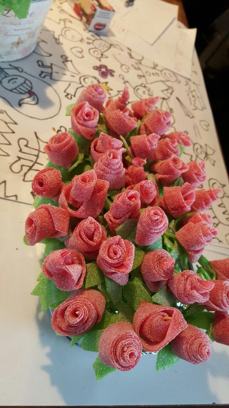 Zure matten bloem traktatie