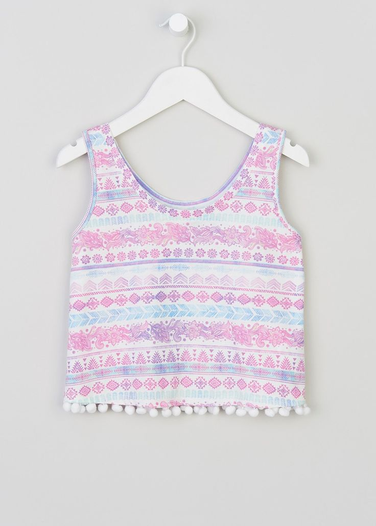 Girls Candy Couture Aztec Vest (9-16yrs) - Matalan