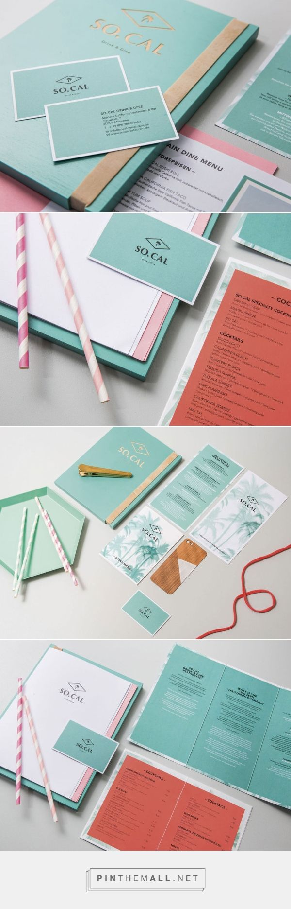 So.Cal – Drink & Dine.  A preppy restaurant design and #stationery suite