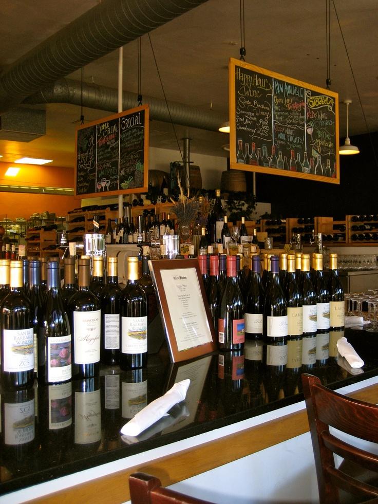 Try the flatbreads or the mahi mahi, or both! Wine Bistro Pierre Lafond in Santa Barbara