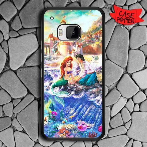 Disney Ariel And Eric HTC One M9 Black Case
