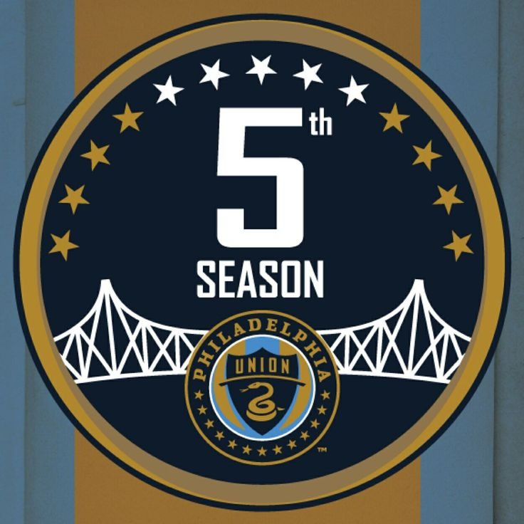 Philadelphia Union Anniversary Logo (2014) Sports Logos