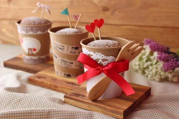 身近な紙コップで作るキュートなシフォンケーキ!今年はチョコ以外のバレンタイン