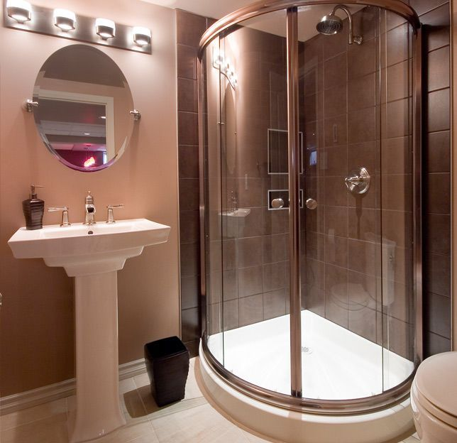 41 best Neo-Angle shower images on Pinterest   Bathroom ... on Small Space Small Bathroom Ideas Pinterest id=40639