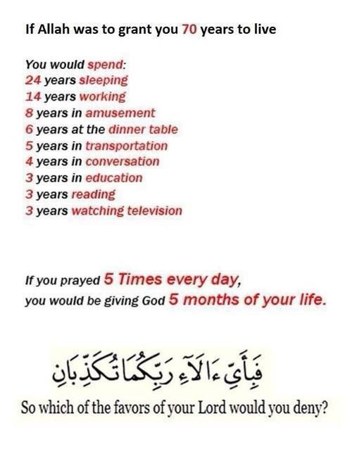 """Out of 70 years of life, surely we can give 5 months of our time. After all, this is why we were created. - """"Allah ta'ala wishes to make things easy for you and not to make things difficult for you."""" Quran 2:185"""