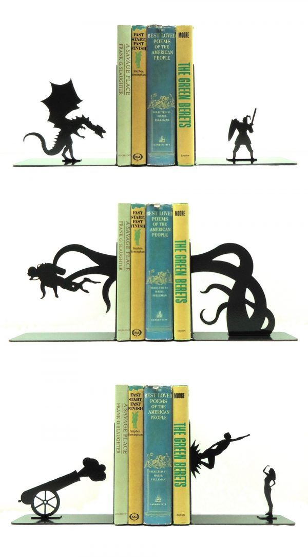 How cool are these bookends?! Super unique  Art/ Wall art/ Wallpaper/ Ceiling/ Art inspiration/ Design/ Home decor