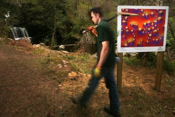 Aberlour whisky's outdoor art gallery
