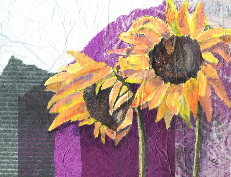 Sunflowers - Mixed Media